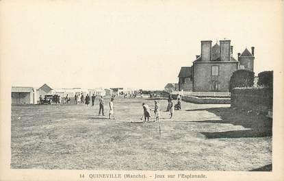 """/ CPA FRANCE 50 """"Quineville, jeux sur l'Esplanade"""" / JEUX CROQUET"""