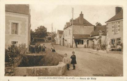 """/ CPA FRANCE 41 """"Candé sur Beuvron, route de Blois"""""""