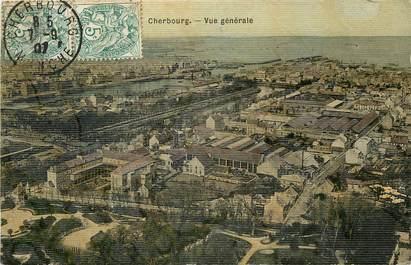"""CPA FRANCE 50 """"Cherbourg, vue générale"""" / CARTE TOILÉE"""
