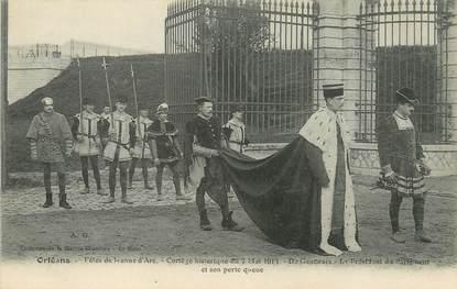 """/ CPA FRANCE 45 """"Orléans, fêtes de Jeanne d'Arc, cortège historique du 7 mai 1913"""""""