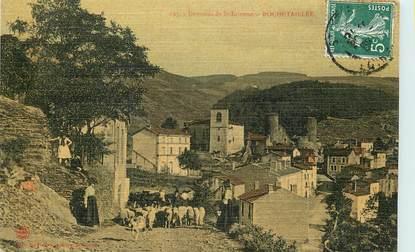 """CPA FRANCE 42 """"Rochetaillée, environs de Saint Etienne"""" / CARTE TOILÉE"""