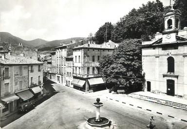 """/ CPSM FRANCE 26 """"Dieulefit, place Chateauras et le temple"""""""