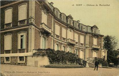 "CPA FRANCE 91 ""Igny, Chateau de Marienthal"" / CARTE TOILÉE"