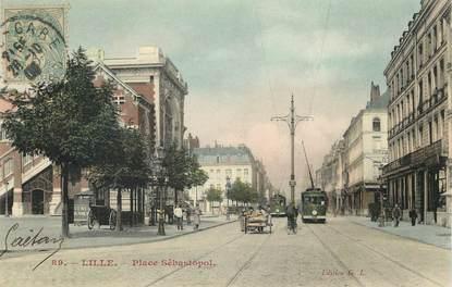 """CPA FRANCE 59 """"Lille, place Sébastopol"""""""