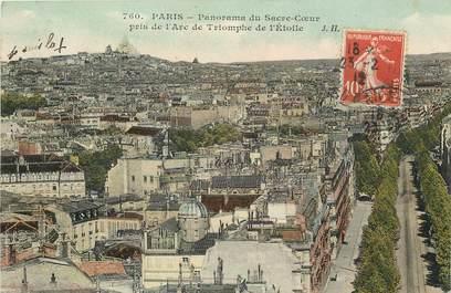 """CPA  """"Paris, XVIII ème, Panorama du Sacré Coeur pris de l'Arc de Triomphe"""""""