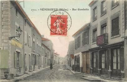"CPA FRANCE 69 ""Vénissieux, rue Gambetta"""