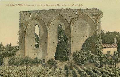"""CPA FRANCE 33 """"Saint Emilion, les grandes murailles, XIIIème siècle"""""""
