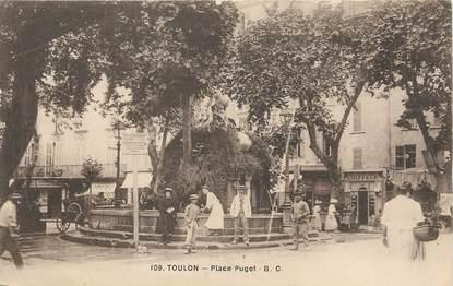 "/ CPA FRANCE 83 ""Toulon, place Puget """
