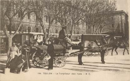 """/ CPA FRANCE 83 """"Toulon, le torpilleur des rues"""" / ATTELAGE"""
