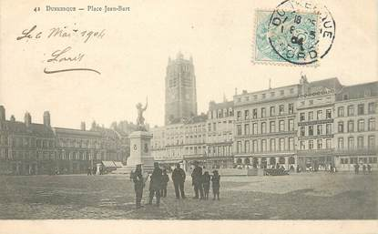 """/ CPA FRANCE 59 """"Dunkerque, place Jean Bart"""""""