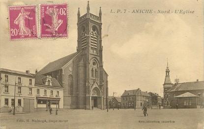 "/ CPA FRANCE 59 ""Aniche Nord, l'église"""