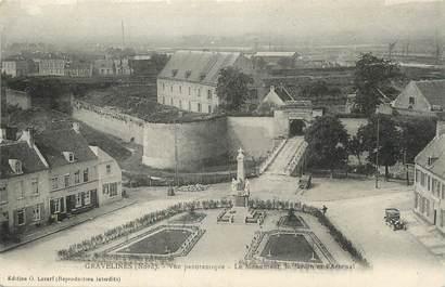"""/ CPA FRANCE 59 """"Gravelines, vue panoramique, le monument, le jardin et l'arsenal"""""""