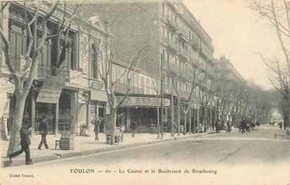 """/ CPA FRANCE 83 """"Toulon, le casino et le bld de Strasbourg"""""""