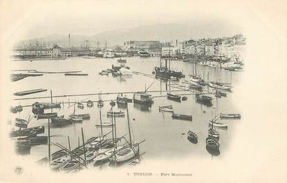 """/ CPA FRANCE 83 """"Toulon, port marchand"""""""