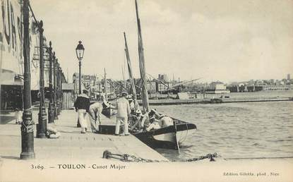 "/ CPA FRANCE 83 ""Toulon, canot Major"""