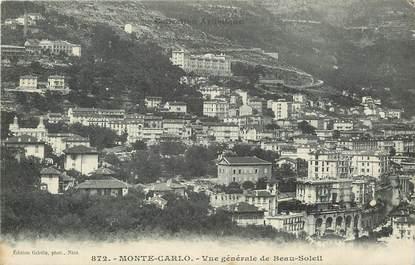 """CPA MONACO """"Monte Carlo, Beau Soleil"""""""