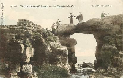 """CPA FRANCE 17 """"Saint Palais sur Mer, le pont du Diable"""""""