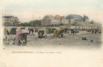 """/ CPA FRANCE 62 """"Boulogne sur Mer, la plage  et le casino"""""""