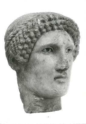 """/ CPSM FRANCE 84 """"Avignon, musée Calvet, tête de Couros, art grec"""""""