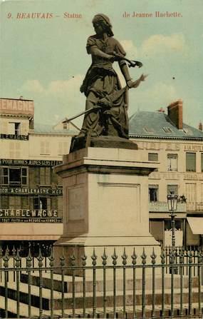 """CPA FRANCE 60 """"Beauvais, statue de Jeanne Hachette"""""""