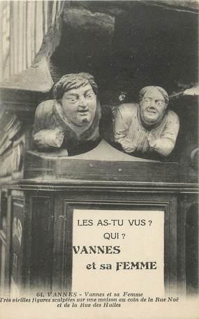 """/ CPA FRANCE 56 """"Vannes, Vannes et sa femme"""""""