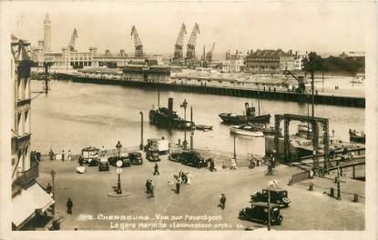 """/ CPSM FRANCE 50 """"Cherbourg, vue sur l'avant port, la gare maritime"""""""