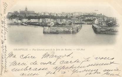 """/ CPA FRANCE 50 """"Granville, vue générale prise de la jetée des bassins"""""""