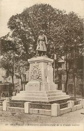 """/ CPA FRANCE 50 """"Granville, monument commémoratif"""""""