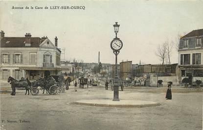 """CPA FRANCE 77 """"Avenue de la gare de Lizy sur Ourcq"""""""