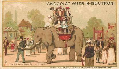 CPA  / CHROMO PUBLICITAIRE CHOCOLAT GUERIN BOUTRON / ELEPHANT
