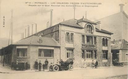 """/ CPA FRANCE 92 """"Puteaux, les grandes usines d'automobiles"""""""