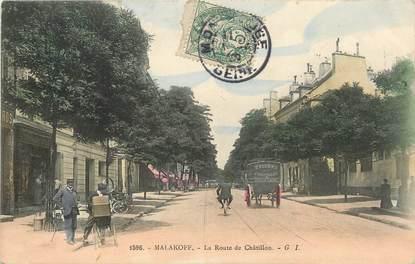 "/ CPA FRANCE 92 ""Malakoff, la route de Châtillon"""