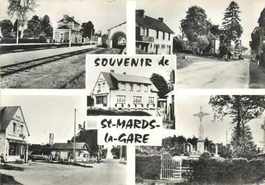"""/ CPSM FRANCE 27 """"Saint Mards La Gare"""""""