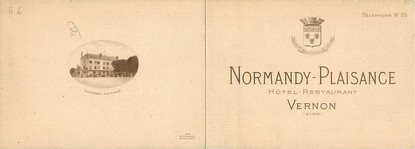 """/ CPSM FRANCE 27 """"Vernon, hôtel Normandy Plaisance"""" / LIVRET"""