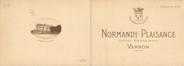 """27 Eure / CPSM FRANCE 27 """"Vernon, hôtel Normandy Plaisance"""" / LIVRET"""