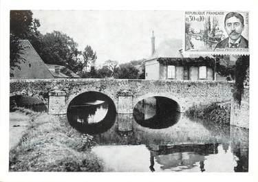 """/ CPSM FRANCE 28 """"Illiers Combray, le pont Saint Hilaire sur la Vivonne"""""""