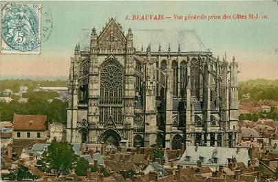 """CPA FRANCE 60 """"Beauvais, vue générale prise des côtes Saint Jean"""""""