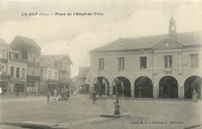 """/ CPA FRANCE 61 """"Le Sap, place de l'hôtel de ville"""""""