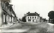 """61 Orne / CPSM FRANCE 61 """"Moulins La Marche, route de la gare, route de Sainte Gauburge"""""""