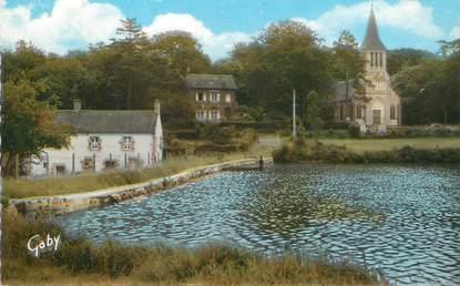 """/ CPSM FRANCE 61 """"Athis de l'Orne, l'étang et l'église protestante"""""""