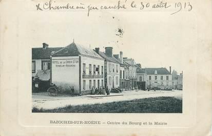"""/ CPA FRANCE 61 """"Bazoches sur Hoene, centre du bourg et la mairie"""""""