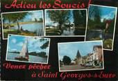 """28 Eure Et Loir / CPSM FRANCE 28 """"Saint Georges sur Eure"""" / PÊCHE"""