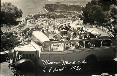 CARTE PHOTO MONACO 1936 / AUTOMOBILE