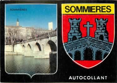"""/ CPSM FRANCE 30 """"Sommières"""" / AUTOCOLLANT"""