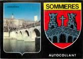 """30 Gard / CPSM FRANCE 30 """"Sommières"""" / AUTOCOLLANT"""