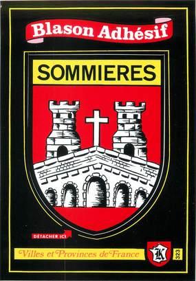 "/ CPSM FRANCE 30 ""Sommières"" / BLASON ADHESIF"
