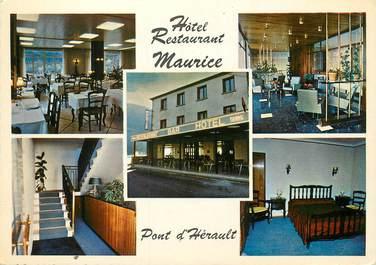 """/ CPSM FRANCE 30 """"Pont d'Hérault, hôtel restaurant Maurice"""""""