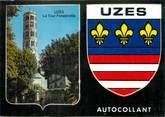 """30 Gard / CPSM FRANCE 30 """"Uzès"""" / AUTOCOLLANT"""