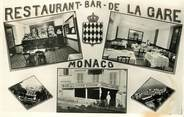 "France CPSM MONACO ""Bar Restaurant de la Gare"""