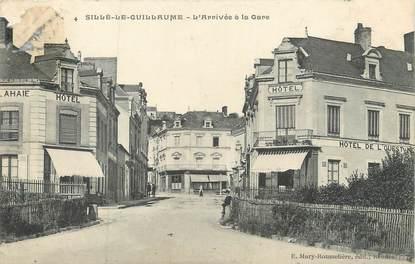 """/ CPA FRANCE 72 """"Sillé Le Guillaume, l'arrivée à la gare"""""""